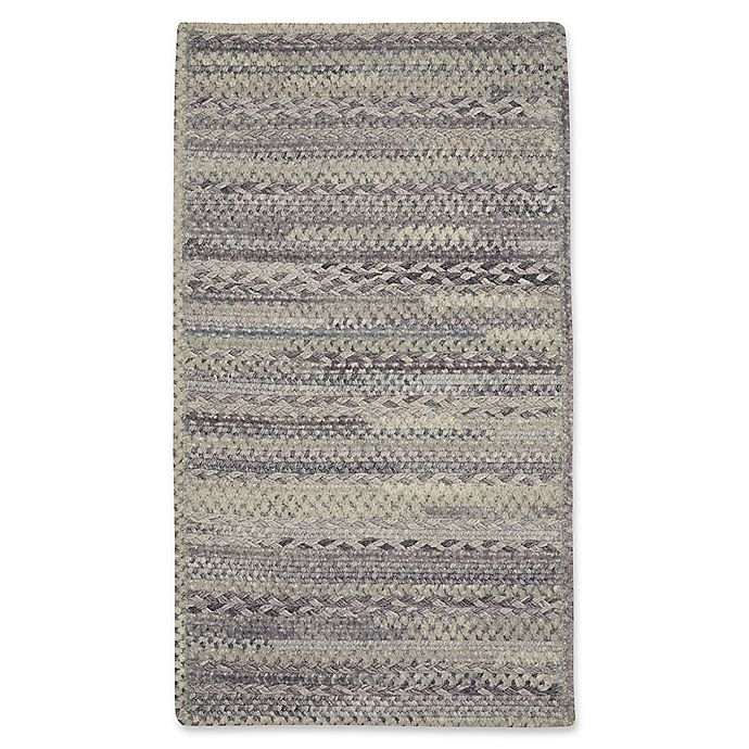 Alternate image 1 for Capel Rugs Harborview Cross Sewn Braided 5-Foot x 8-Foot Area Rug in Grey