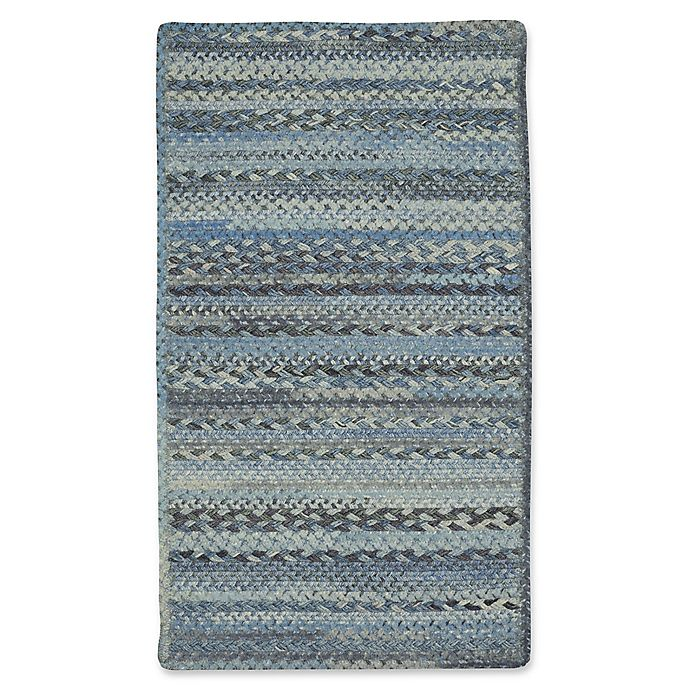 Alternate image 1 for Capel Rugs Harborview Cross Sewn Braided 8-Foot x 11-Foot Area Rug in Blue