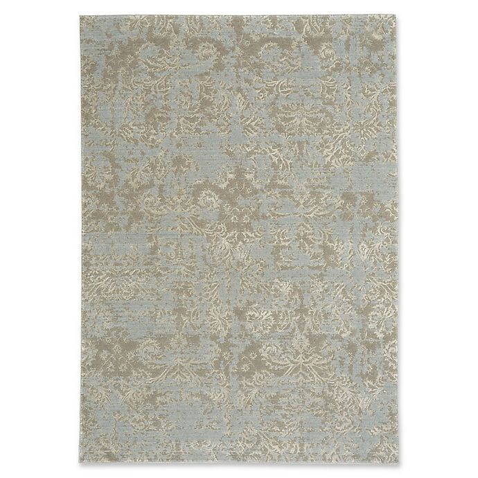 Alternate image 1 for Capel Rugs Kathmandu Floral 5-Foot 3-Inch x 7-Foot 6-Inch Area Rug in Grey
