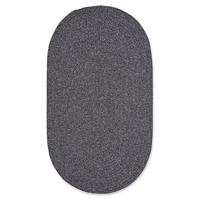 Alternate image 1 for Capel Rugs Candor Oval Braided Indoor/Outdoor 5-Foot x 8-Foot Area Rug in Grey