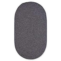 Capel Rugs Candor Oval Braided Indoor/Outdoor Rug in Grey