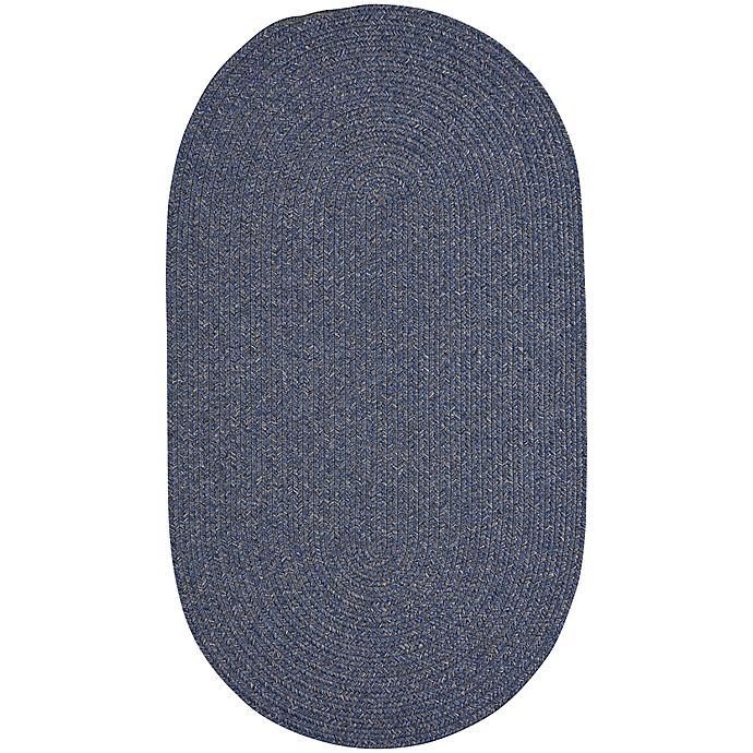 Alternate image 1 for Capel Rugs Candor Oval Braided Indoor/Outdoor 2-Foot x 3-Foot Accent Rug in Blue