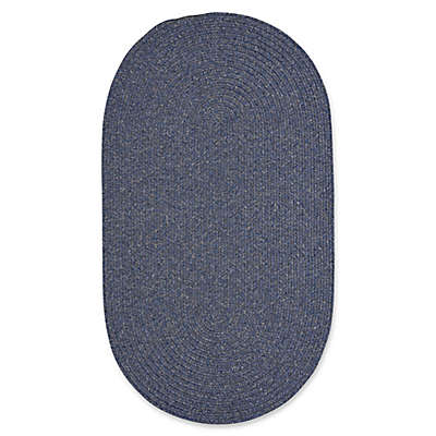 Capel Rugs Candor Oval Braided Indoor/Outdoor Rug in Blue