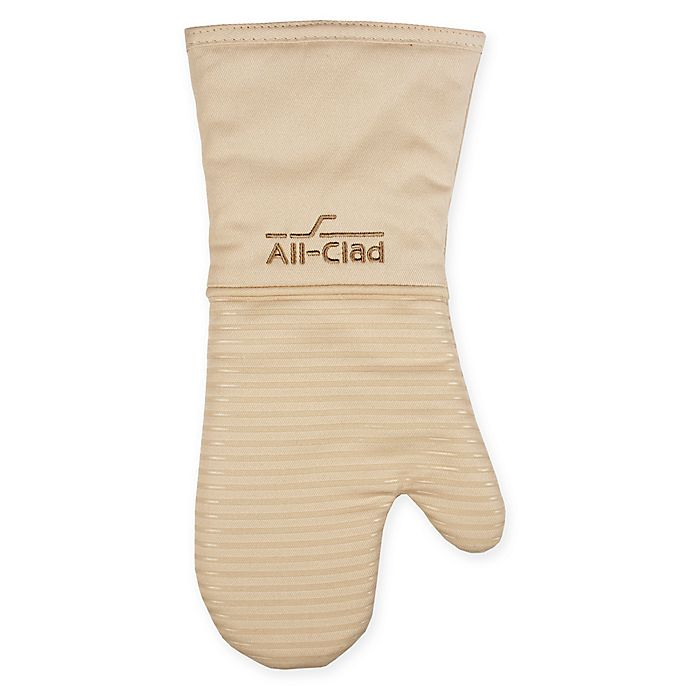 Alternate image 1 for All-Clad Silicone Oven Mitt in Almond