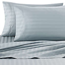 Wamsutta® Stripe 500-Thread-Count PimaCott® Olympic Queen Sheet Set in Aqua