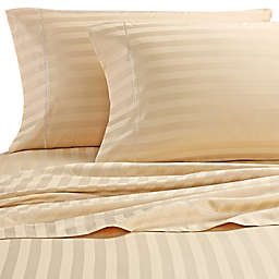 Wamsutta® Stripe 500-Thread-Count PimaCott® Olympic Queen Sheet Set in Honey