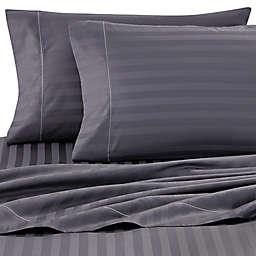 Wamsutta® Stripe 500-Thread-Count PimaCott® Olympic Queen Sheet Set in Denim