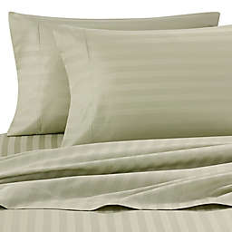 Wamsutta® Stripe 500-Thread-Count PimaCott® Dual California King Sheet Set in Sage