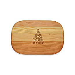 Carved Solutions Everyday Collection Joy-Love-Peace Tree 10-Inch x 7-Inch Cutting Board