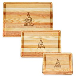 Carved Solutions Master Collection Joy-Love-Peace Tree Cutting Board Collection