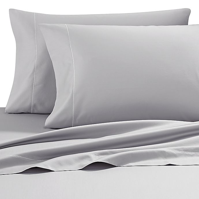 Alternate image 1 for Wamsutta® Solid 500-Thread-Count PimaCott® Dual California King Sheet Set in Silver