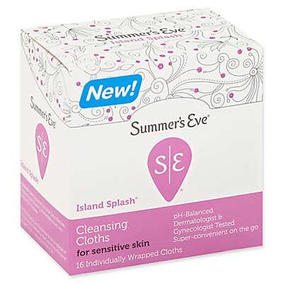 Summer's Eve® Island Splash® 16-Count Cleansing Cloths for Sensitive Skin