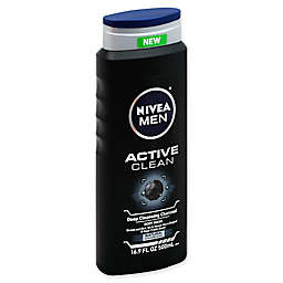 Nivea® 16.9 oz. Men Active Clean Body Wash in Deep Cleansing Charcoal