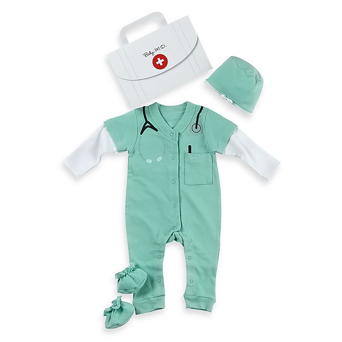 Alternate image 1 for Baby Aspen Baby M.D. 2-Piece Size 0 to 6 Months Baby Layette Set
