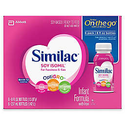 Similac® Soy Isomil® Ready to Feed 8 fl. oz Bottle (Pack of 6)