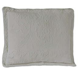 Historic Charleston Collection Matelasse Standard Pillow Sham in Grey