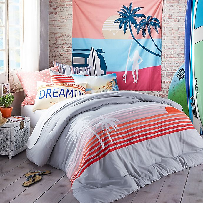 Alternate image 1 for Hang Ten Sunset Stripe Comforter Set