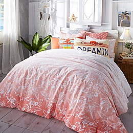 Hang Ten Ombre Hibiscus Twin Duvet Cover Set