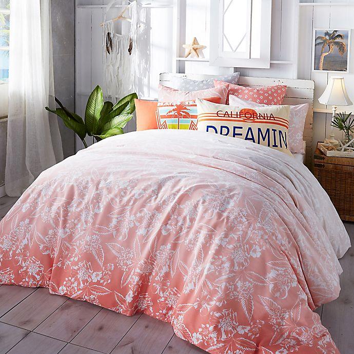 Alternate image 1 for Hang Ten Ombre Hibiscus Comforter Set