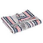 Hang Ten Pismo Beach Classic Baha Stripe Throw Blanket in Grey