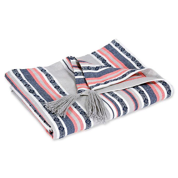 Alternate image 1 for Hang Ten Pismo Beach Classic Baha Stripe Throw Blanket in Grey