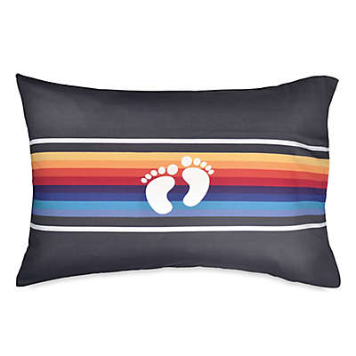 Hang Ten Ocean Beach Stripe Pillow Cover in Navy