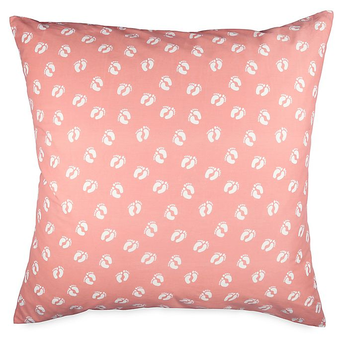 Alternate image 1 for Hang Ten Woodgrain Feet European Pillow Sham in Coral