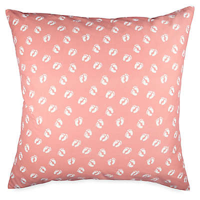Hang Ten Woodgrain Feet European Pillow Sham in Coral