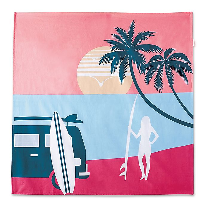 Alternate image 1 for Hang Ten Sunset Stripe Endless Summer Tapestry in Coral