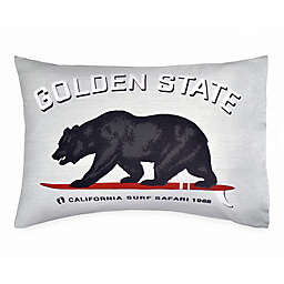 Hang Ten Surfboard Medallion Golden State Standard Pillowcase in Grey
