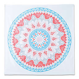 Hang Ten Surfboard Medallion Tapestry in Coral