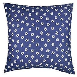 Hang Ten Surfboard Medallion Feet European Pillow Sham in Navy