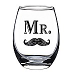 Lillian Rose™  Mr.  Mustache Stemless Wine Glass
