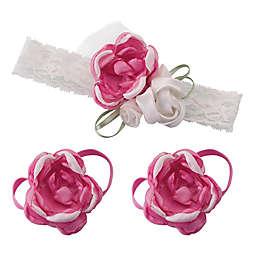 Lillian Rose™ 3-Piece Baby Headband and Barefoot Sandals Set