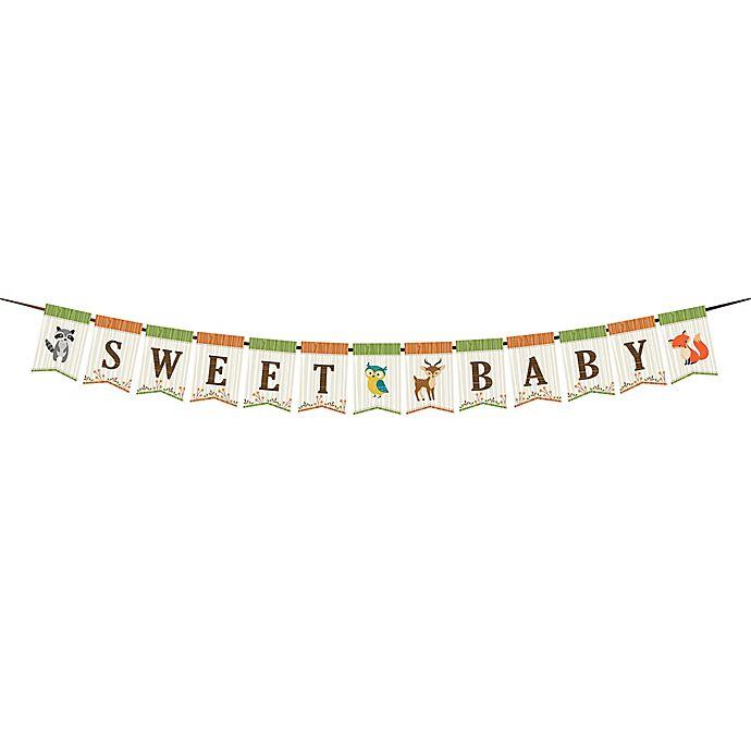 Alternate image 1 for Lillian Rose™ Woodland Baby Shower Bunting Banner