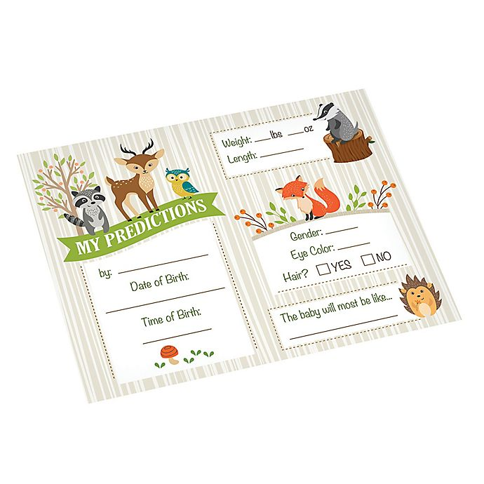 24 cnt Woodland Animals Baby Shower Price is Right Game
