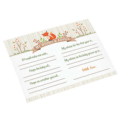 Lillian Rose™ Woodland Baby Shower Wishes Card (Set of 24)