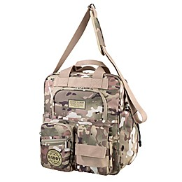 Lillian Rose™ Military Camouflage Daddy Diaper Bag in Tan/Green