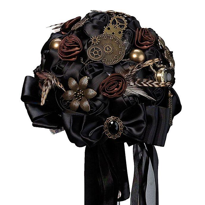 Alternate image 1 for Lillian Rose™ Steampunk Wedding Bouquet in Black