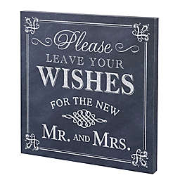 Lillian Rose™ Leave Your Wishes Canvas Wedding Sign Wall Art in Black/White