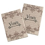 Lillian Rose™ 2-Piece His and Her Vow Books in Tan