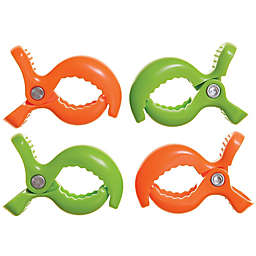 Dreambaby® Strollerbuddy® Stroller Blanket Clips Green/Orange (Set of 4)