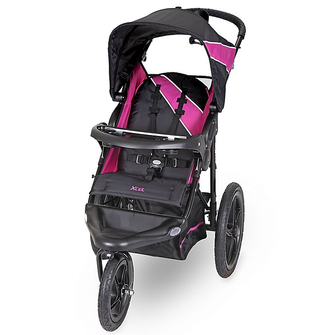 Alternate image 1 for Baby Trend® Xcel Jogger Stroller in Raspberry