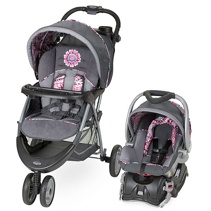 Alternate image 1 for Baby Trend® EZ Ride 5 Stroller Travel System in Paisley