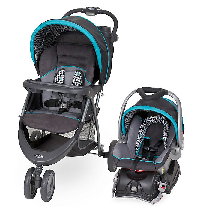 Alternate image 1 for Baby Trend® EZ Ride 5 Travel System in Hounds Tooth