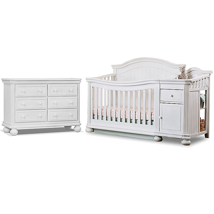 Alternate image 1 for Sorelle Finley Crib  and Changer Collection in White