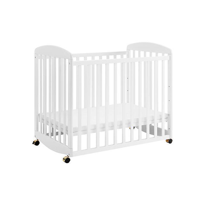 Alternate image 1 for DaVinci Alpha Mini Rocking Crib in White