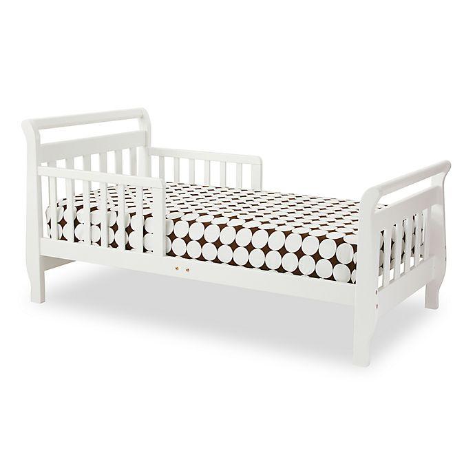 Alternate image 1 for DaVinci Sleigh Toddler Bed in White