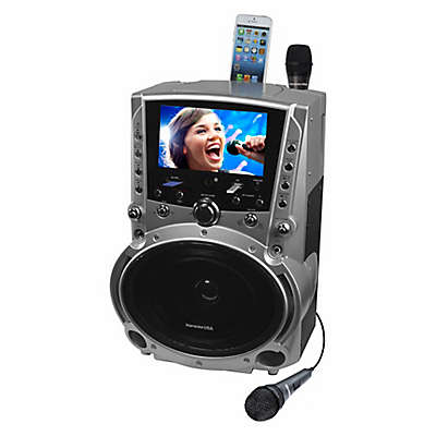 Karaoke DVD/CDG/MP3G Karaoke Player with 7-Inch TFT Color Screen and Record Function