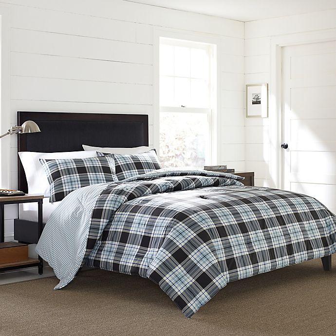 Alternate image 1 for Eddie Bauer® Lewis Plaid Twin Comforter Set in Navy